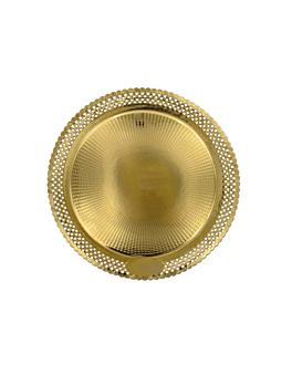 assiettes dentelÉes 'erik' 1200 g/m2 + 300 g/m2 pp Ø 30 cm dore carton (100 unitÉ)
