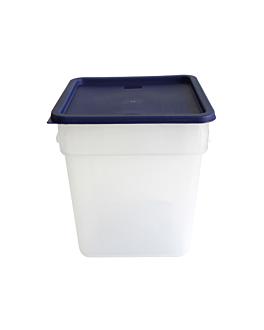 contenitore alimenti 18 l 28,5x28,5x32 cm bianco pp (1 unitÀ)