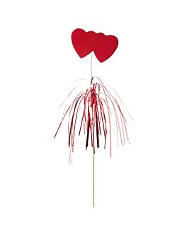 decorazioni per gelati - cuore 15 (h) cm colori varie legno (100 unitÀ)