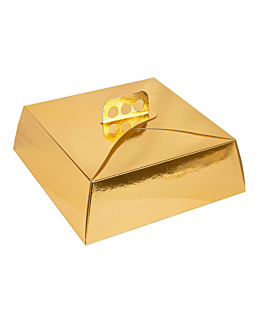 cake boxes 30x30x10 cm gold cardboard (50 unit)