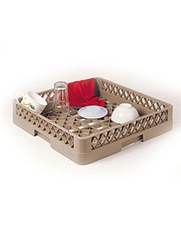 casier de lavage pour objets profonds 50x50x10 cm beige pp (1 unitÉ)