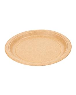assiettes rondes 255 g/m2 Ø 22 cm naturel carton (400 unitÉ)
