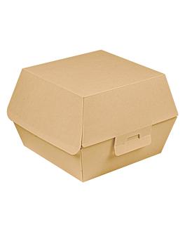 conchas hamburguesa 'thepack' 220 g/m2 15,5x14,5x9,5 cm (l+) natural cartÓn ondulado nano-micro (500 unid.)