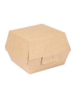 burger boxes 'thepack' 220 gsm 14,4x13,6x9,2 cm (l+) natural nano-micro corrugated cardboard (500 unit)