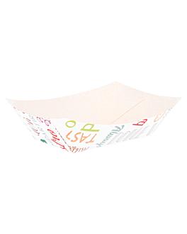 barquettes 'parole' 240 g 250 g/m2 8,5x5x4 cm blanc carton (200 unitÉ)