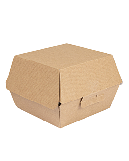 conchas hamburguesa 'thepack' 220 g/m2 14x12,5x9 cm natural cartÓn ondulado nano-micro (500 unid.)