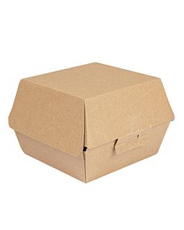 conchas hamburguesa 'thepack' 220 g/m2 13x12,5x9 cm natural cartÓn ondulado nano-micro (500 unid.)