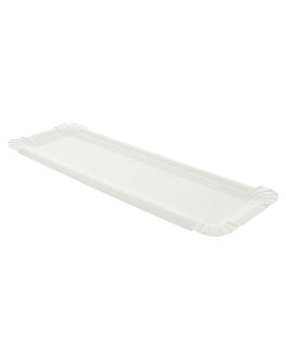 """bandejas para """"hot dog"""" 23x8 cm blanco cartoncillo (2500 unid.)"""