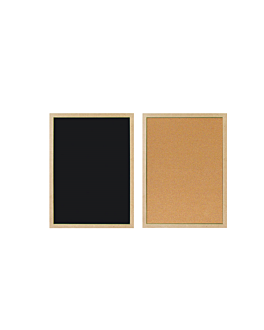 cartelera reversible 30x45 cm negro (1 unid.)