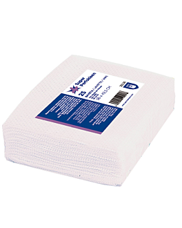 "25 u. wipes ""super perfokleen"" 80 gsm 36x42,5 cm white viscose (1 unit)"