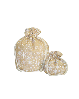 sacos - stars 25,5x25,5 cm natural juta (10 unidade)