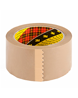 adhesive tape roll 66 m x 5 cm brown pp (6 unit)