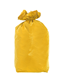 20 u. colored garbage bags 110 l 70µ 70x110 cm pale yellow peld (5 unit)