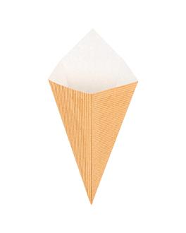 coni per fritti 'ondulatto' 100 g 12,5x22 cm naturale kraft (800 unitÀ)