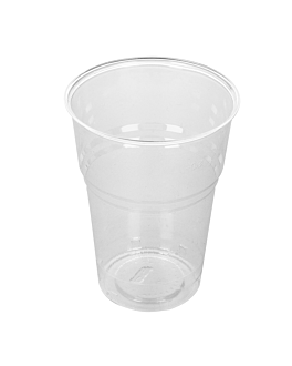 gobelets compostables 400 ml Ø 8,5x11,2 cm transparent pla (1000 unitÉ)