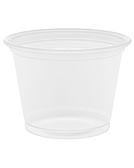 small microwavable containers 30 ml Ø4,5x3,3 cm clear pp (2500 unit)