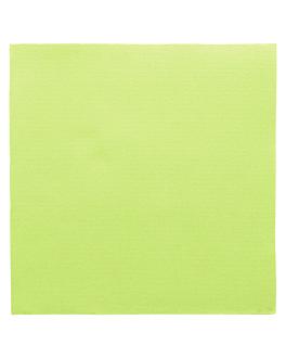 serviettes ecolabel 'double point' 18 g/m2 39x39 cm vert anis ouate (1200 unitÉ)