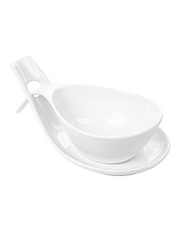 bols soupe avec sauciÈre 25,5x13x6,5 cm blanc porcelaine (4 unitÉ)