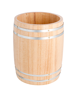 mini botte Ø11,5x13,8 cm naturale legno (1 unitÀ)