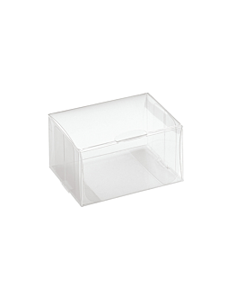 pastry cases 8x4x3 cm clear pvc (200 unit)