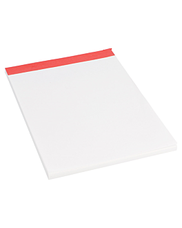 order pads (1/8) 80 sheets 15,7x10,5 cm white paper (120 unit)