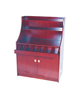 meuble À couverts et vaisselle grand 100x55x141 cm marron rougeatre bois (1 unitÉ)