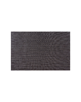 table mats 45x30 cm black pvc (12 unit)