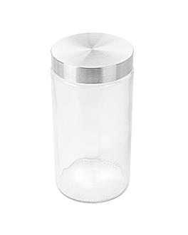 cylindrical storage jar 1700 ml Ø 11,2x22 cm clear glass (12 unit)