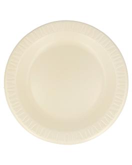 """prato em """"foam"""" Ø 26 cm amÊndoa pse (500 unidade)"""