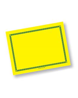 mantelines 60 g/m2 30x40 cm amarillo intenso airlaid (800 unid.)