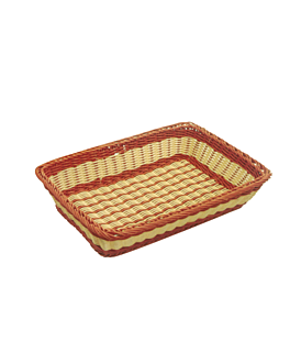 bakery basket imitation wicker 55x36x11 cm natural pp (1 unit)