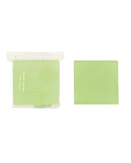 soaps 19 g 4x4 cm green glycerine (500 unit)