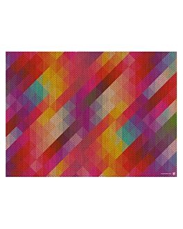 """sets de table offset """"geometric"""" 70 g/m2 30x41,5 cm quadrichromie papier (2000 unitÉ)"""