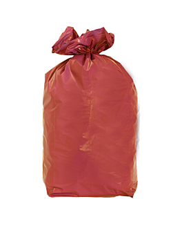 20 u. colored garbage bags 110 l 70µ 70x110 cm red peld (5 unit)