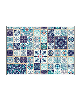 tovagliette offset 'azulejos' 70 g/m2 31x43 cm quatricomia carta (2000 unitÀ)