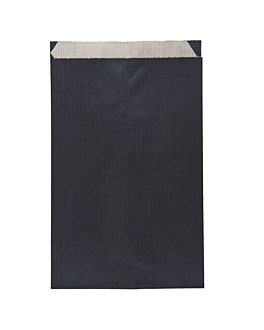 sacchetti piani unicolore 60 g/m2 12+5x18 cm nero kraft a costine (250 unitÀ)