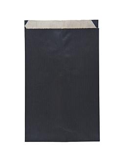 bolsas planas unicolor 60 g/m2 12+5x18 cm negro kraft verjurado (250 unid.)