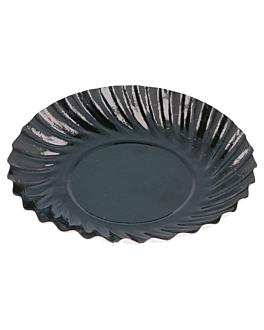 mini plates 325 g/m2 Ø 8,8 cm black cardboard (100 unit)