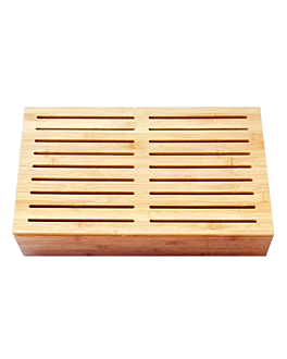 board for bread 53x32,5x9 cm natural bamboo (1 unit)