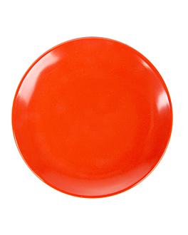 dishes Ø 23 cm red melamine (12 unit)
