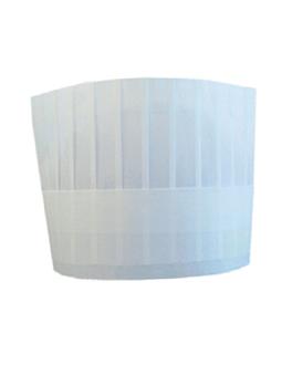 gorros ajustable clÁsicos 18 cm blanco papel telado (10 unid.)