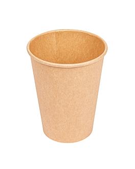 gobelets boissons chaudes 1 paroi 360 ml 300 + 18 pe g/m2 Ø9/6x11 cm marron carton (1000 unitÉ)