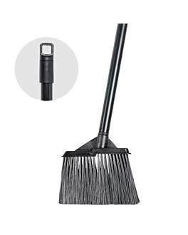 angled broom 15x19x91 cm black (1 unit)