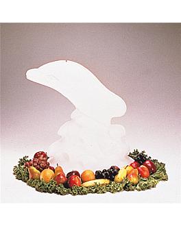"""scultura di ghiaccio """"delfino"""" 52x36x63 bianco plastica (1 unitÀ)"""