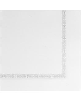 """serv. ecolabel avec liserÉ """"plus"""" 'double point' 18 g/m2 39x39 cm blanc ouate (1200 unitÉ)"""