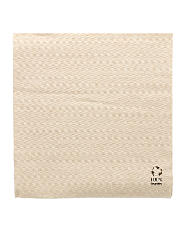 ecolabel napkins 1 ply 23 gsm 33x33 cm natural recycled tissu (3000 unit)