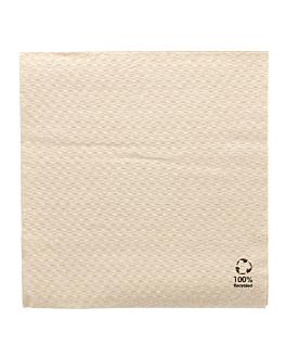 serviettes ecolabel 1 pli 23 g/m2 33x33 cm naturel ouate recyclÉe (3000 unitÉ)