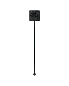 stirrers for drinks 18,5 cm black ps (100 unit)