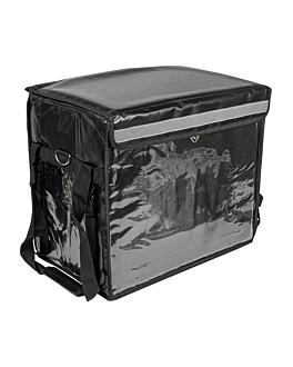 delivery bag 44x37x29 cm black vinyl (1 unit)