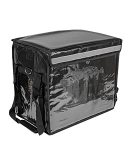 valigia trasporto 44x37x29 cm nero vinile (1 unitÀ)